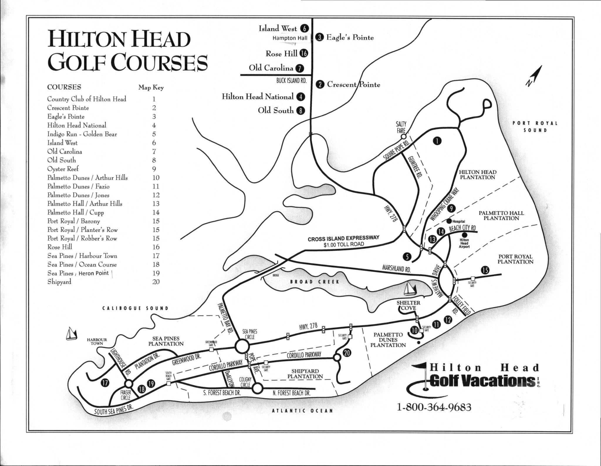 Golf Courses In South Carolina Map.Hilton Head Golf Course Map Hilton Head Golf Vacations